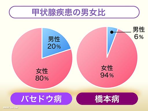 甲状腺疾患の男女比グラフ